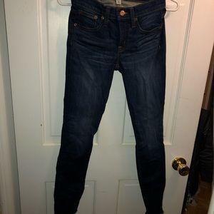 J. Crew Toothpick Jeans W/ Frayed Bottom!